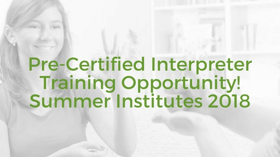 Sign Language Interpreter Training