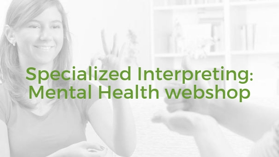 Specialized Interpreting- Mental Health webshop